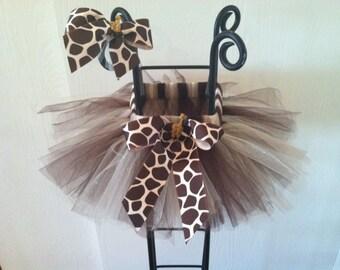 Giraffe Tutu ( comes with matching hair bow )