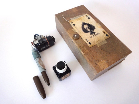 Items similar to tattoo gun handmade prison style on etsy for How to make a home made tattoo machine