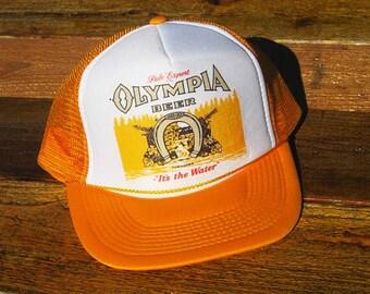 Vintage Olympia Beer Tum Water Mesh Snapback Hat
