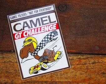 Vintage 70s Original Camel Cigarettes GT Challenge Racing Sticker