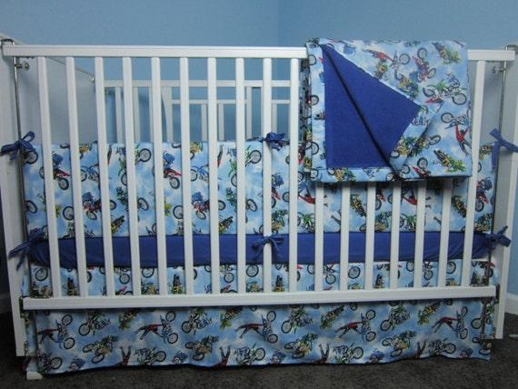 Motocross Dirt Bike Nursery Baby Crib Toddler Bed By