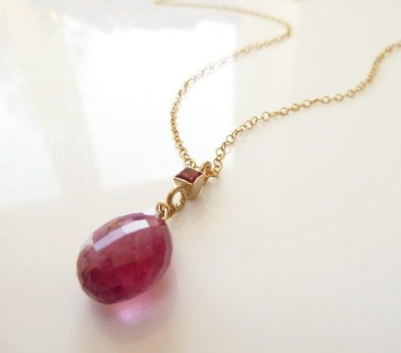 pink tourmaline necklace tourmaline pendant garnet necklace. Black Bedroom Furniture Sets. Home Design Ideas