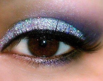 SILVER SPARKLE Professional Grade Cosmetic Glitter Eyeshadow and Eyeliner. Vegan