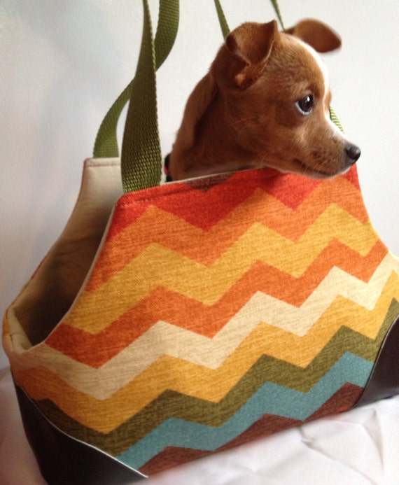 Missoni Inspired Fashion Small Pet Carrier Chihuahua Yorkie Min Pin Miiniature Dog