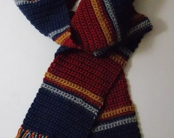 Red and Blue Striped Scarf (Made to Order)