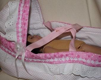"""Handmade bassinette for 18"""" Dolls"""
