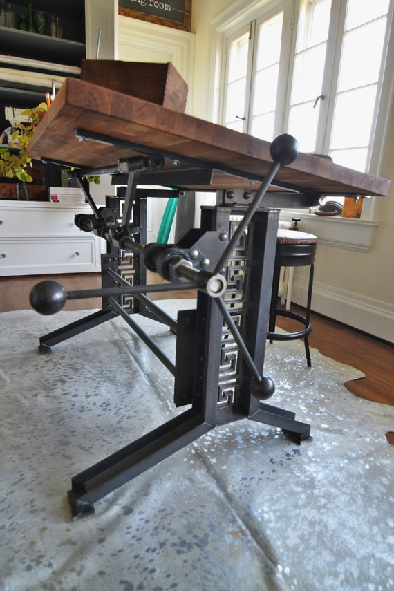 Items Similar To French Industrial Drafting Table Desk On Etsy