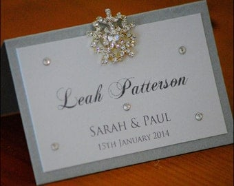 Crystal Snowflake Place Cards