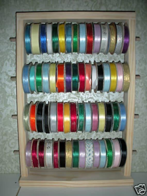 Spool Wooden Ribbon Holder Ribbon Organizer Ribbon Spool