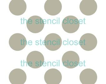 12 x12 Large Polka Dot stencil