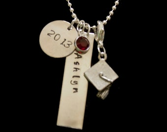 Hand Stamped Graduation Necklace