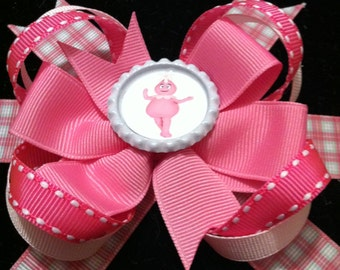 Yo Gabba Gabba Pink Foofa Hair bow