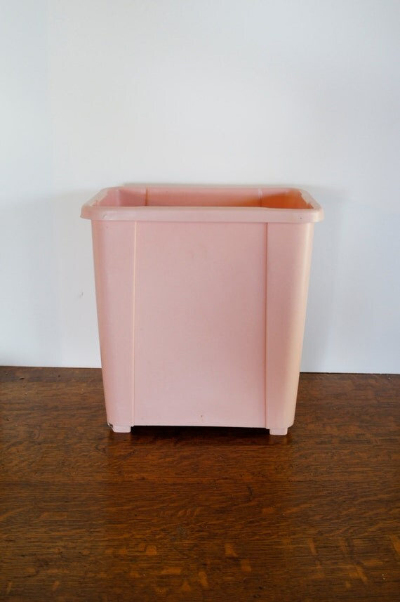 Small Bathroom Waste Bins: Reserve For Linda Till 6/3 Pink Plastic Trash Can Rectangle