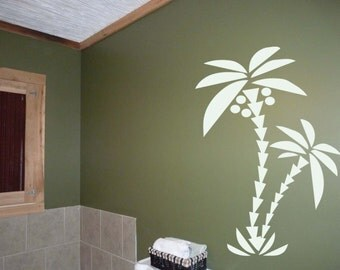"Palm Tree Vinyl Wall Decal Sticker 72""h x 45""w"