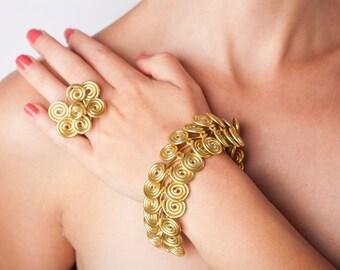 Troy Style Wire Wrapped Jewelry Set