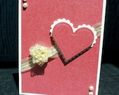 Celebrating Love with Ivory Rose and Heart - Anniversary, Valentine's Day, Mother's Day, Birthday