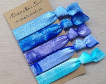 The Blue Sea Hair Tie Collection - 5 Elastic Hair Ties by Elastic Hair Bandz