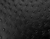 Faux Leather Ostrich Fabric Upholstery Vinyl Ostrich Black Fabric Per Yard