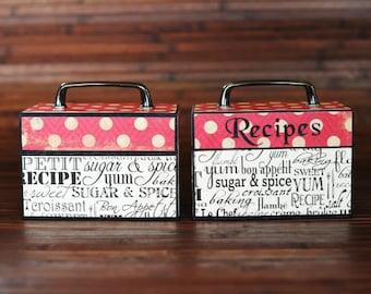 Contemporary Recipe Box