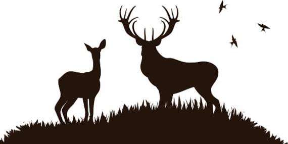 Deer Scene Wall Decal