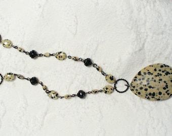 Dalmation Jasper Pendant Necklace