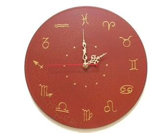 wall clock zodiac astrology clock zodiac wall decor unique wall clocks hand painted clocks modern wall
