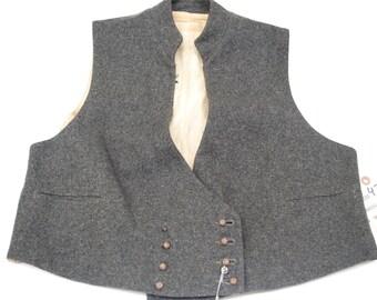 1930's Vintage Grey Wool Vest