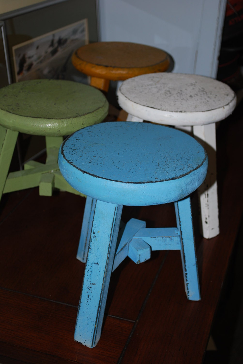 Vintage Small Wood Foot Stool