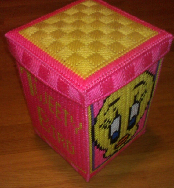Acrylic Trinket Boxes : Tweety bird large trinket box plastic canvas