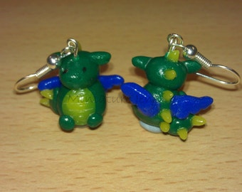 Miniature Dragon Polymer Clay Earrings