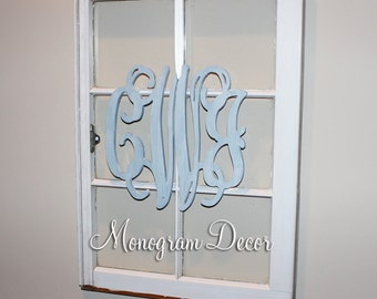 Wooden Monogram Wall Hanging monogram decor | etsy