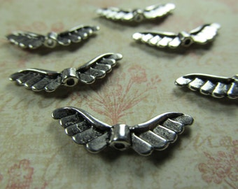 Antique Silver Large Angel Wings Jewelry Findings