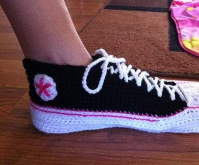 Crochet Tennis Shoe Pattern For Adults