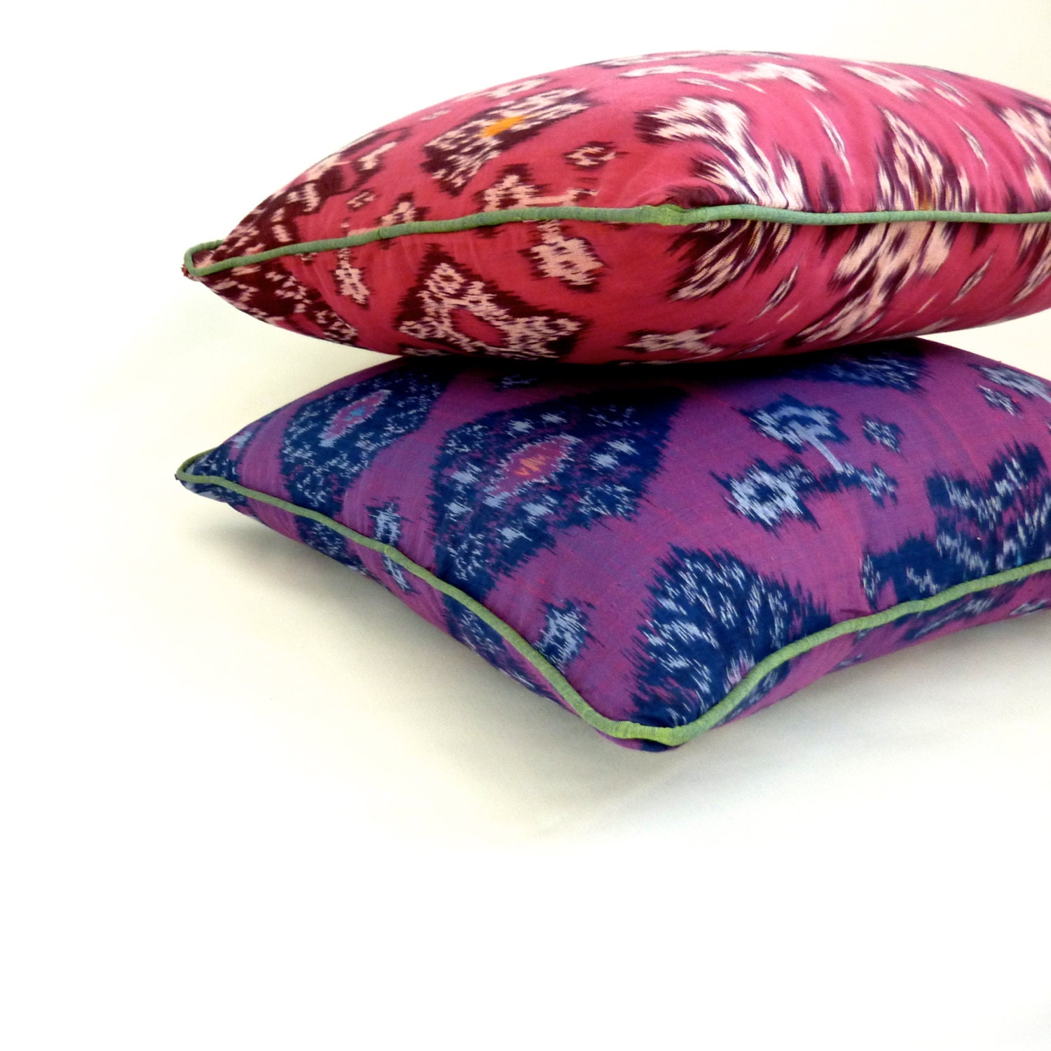Set of 2 Ikat Throw Pillow Covers: pick any two by PigAndGoose