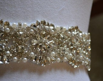 Sale-Wedding Belt, Bridal Belt, Sash Belt, Crystal Rhinestone, Luxury Sash Belt