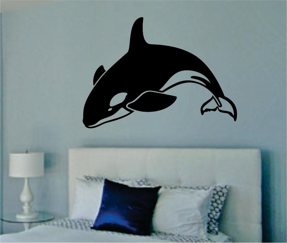 Orca Whale Decal Sticker Wall Vinyl Killer Whale Ocean Sea