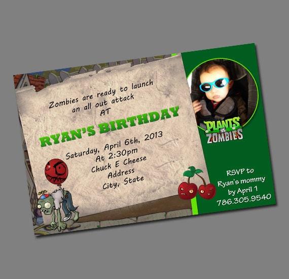 Items Similar To Plants Vs. Zombies Printable Invitation