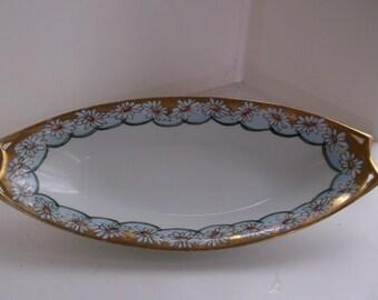 Vintage Early 1900's Bavarian Porcelain Relish Dish