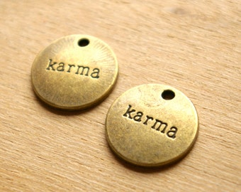Bronze Karma Charm- 2 pieces  -22-
