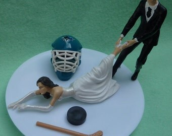 Wedding Cake Topper Boston Bruins G Hockey Themed W By Wedset