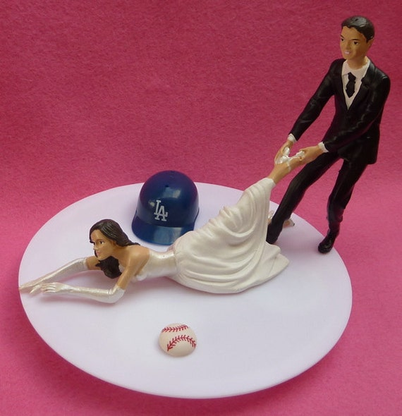 angels baseball wedding cake topper wedding cake topper los angeles dodgers la g baseball themed 10763