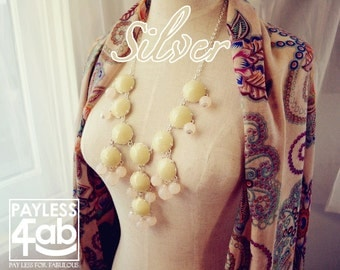 Bubble Necklace J. Crew Style Inspired White Coconut Pudding Sparkle