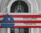 American Flag sailing sign