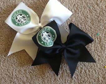 Cheerleader logo bow