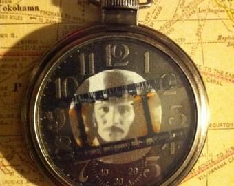 Victorian Dracula as portrayed by Gary Oldman cameo pocket watch