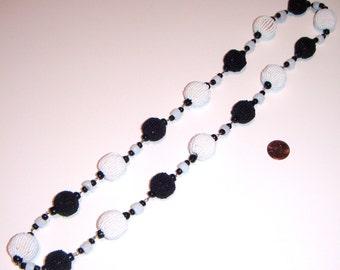 Black & White Beaded Necklace