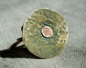 Unique Mens ring - rustic jewelry