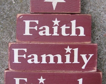 Primitive Blocks 67701-Faith Family Friends set of 4/blocks