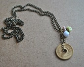 Long Chain Coin Necklace