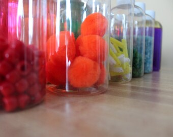 Sensory Rainbow Bottles for Imaginative Play (Set of 6)